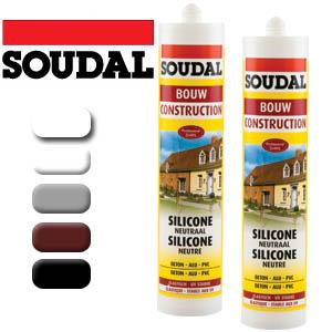 Soudal - Неутрален силикон 300 мл